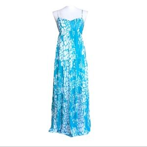 Velvet Graham & Spencer Flowy Maxi Dress Turquoise